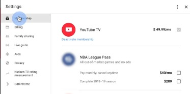 cancel youtube tv trial